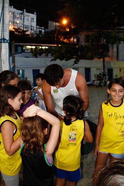 Fotos da visita do ex-atleta profissional de vôlei de praia Pará (1/6)