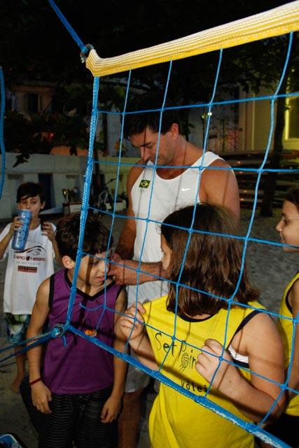 Fotos da visita do ex-atleta profissional de vôlei de praia Pará (2/6)