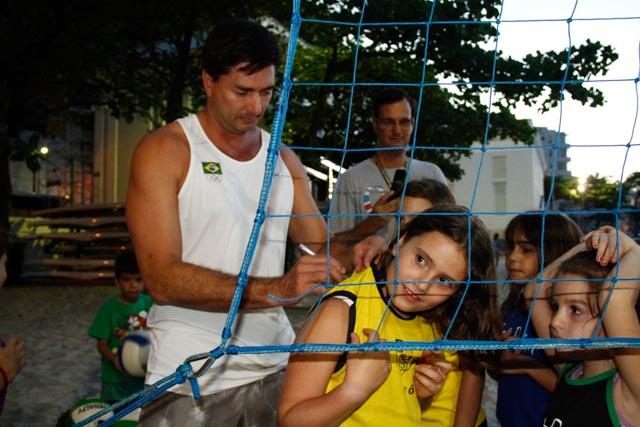 Fotos da visita do ex-atleta profissional de vôlei de praia Pará (3/6)