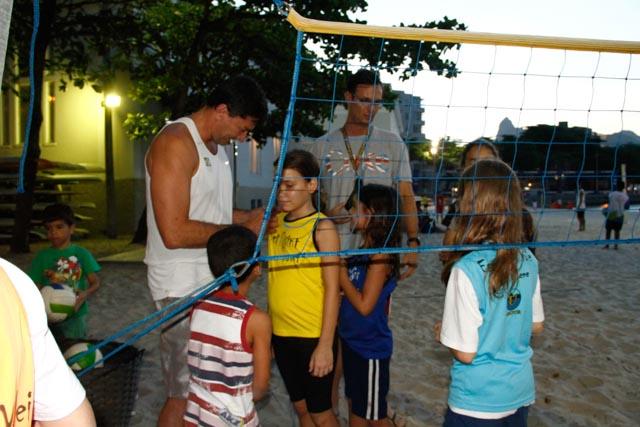 Fotos da visita do ex-atleta profissional de vôlei de praia Pará (4/6)
