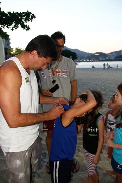 Fotos da visita do ex-atleta profissional de vôlei de praia Pará (5/6)